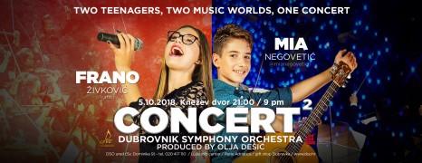 Najava: Spektakl u Dubrovniku – Frano i Mia – Koncert na kvadrat